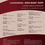CONVEGNO L'AGOPUNTURA: JEAN MARC KESPI E ALTRE VISIONI INTEGRATE – SABATO 28 MARZO 2020
